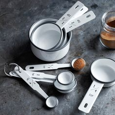 Enameled Measuring Spoons, Set of 4