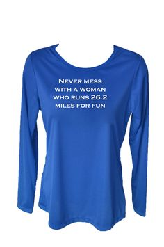Running Shirt Never Mess with a Woman Who Runs by RunningPoetry