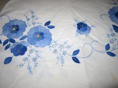 SOLD  Vintage LInens Vintage Tablecloth 79 x 42 by JewelsOfHighElegance, $12.00