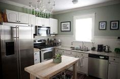 green kitchen by brendaq