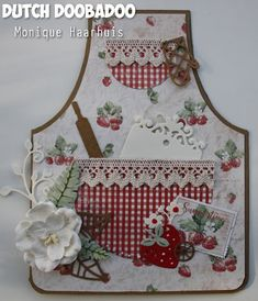 Summertime apron card by Monique Haarhuis