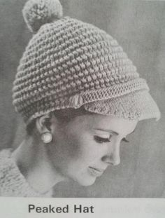 Beehive Book No 118 Winter Headwear Sweater Knitting Patterns, Knitted Poncho, Knitted Hats, Crochet Hats, Vintage Crochet Patterns, Vintage Knitting, Pattern Images, Craft Patterns, Digital Pattern