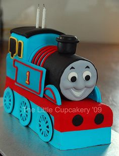 Jaxon's Thomas the Tank Engine 2nd  Birthday Cake by TheLittleCupcakery, via Flickr