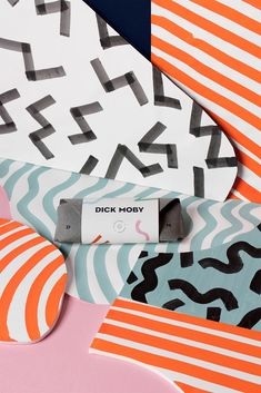 I was asked by Dick Moby, an Amsterdam based sustainable eyewear brand, to work on their identity and take it to the next level.Dick Moby believes that eyewear and sustainability can go hand to hand. DM glasses frame are made from plastic rescued from th… Brand Identity Design, Branding Design, Memphis Pattern, Communication Art, Creative Industries, Brand Packaging, Packaging Design, Graphic Design Typography, Creative Studio