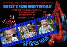 Custom Spiderman Birthday Invitation