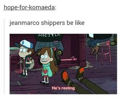 Even though I don't ship them, I refused to believe Marco was dead. AND HE ISN'T! Or might not be... *shrugs*