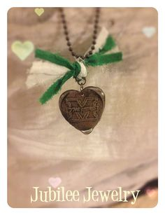 Marshall University Soldered Heart Pendant by jubileejewelry1, $20.00