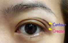Asian Eyemake: Finding the contour area (not the crease)