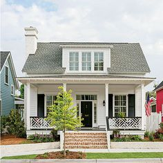 White and black with the brick.  Classic Exterior