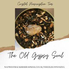 Citrine Crystal Infused Tea. Jasmine and Orange Blossom Green tea blend