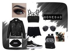 """""""Good Girl Gone Bad"""" by hotchicc on Polyvore featuring Yves Saint Laurent, rag & bone, Vans, Lime Crime and Givenchy"""