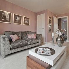 Gray and pink living room pink and grey decor grey pink trendy home decor ideas about . gray and pink living room Living Room Grey, Living Room Sofa, Home And Living, Living Room Furniture, Modern Furniture, Small Living, Silver Living Room, Modern Living, Furniture Ideas