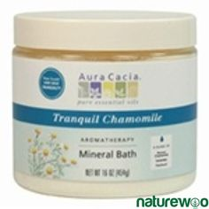 Aura Cacia - 188525 - Tranquil Chamomile, Aromatherapy Mineral Bath jar Aromatherapy Products, Mineral Bath, Bath Water, Foot Soak, Coffee Cans, Minerals, Jar, Canning, Home Canning