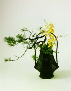 ikebana - japanese flower arrangement. I took ikebana lessons in Japan. It was an introduction to a different way of seeing beauty. In Ikebana, you must consider the empty space too. Is the empty space beautiful? Mind blown!!