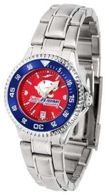 South Alabama Jaguars Women's Stainless Steel Dress Watch by SunTime. $88.95. Women. Stainless Steel. Links Make Watch Adjustable. Officially Licensed South Alabama USA Jaguars Women's Stainless Steel Dress Watch. Water Resistan. South Alabama Jaguars Women's stainless steel watch. This Jaguars dress watch with rotating bezel color-coordinated to compliment your favorite team logo. The Competitor Steel utilizes an attractive stainless steel band. Perfect for any occasion, whether...