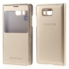 For Samsung G850 Case View Smart Leather Flip Back Housing Cover for Samsung Galaxy Alpha SM-G850F With Package