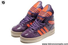Discount Adidas X Jeremy Scott Big Tongue Shoes Purple Fashion Shoes Shop