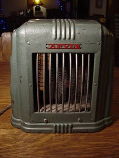 1950 S Arvin Electric Space Heater Turquoise Vintage