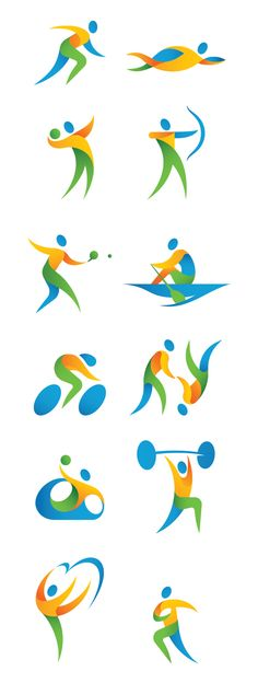 2016 rio olympic pictograms on behance olympics vbs. Olympic Idea, Olympic Games, Rio Olympics 2016, Summer Olympics, Vive Le Sport, Icon Design, Logo Design, Olympic Logo, Sports Therapy
