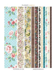 Shabby Chic Washi Tape Description: The sheet of this printable washi tape planner stickers size is 8.5″ x 11″ inches 1 ZIP file containing 1 JPG file, 1 PDF file & 1 Silhouette cut file. (300dpi) M