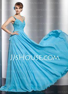 Evening Dresses - $142.49 - A-Line/Princess Sweetheart Watteau Train Chiffon Evening Dress With Ruffle Lace Beading Sequins (017014826) http://jjshouse.com/A-Line-Princess-Sweetheart-Watteau-Train-Chiffon-Evening-Dress-With-Ruffle-Lace-Beading-Sequins-017014826-g14826/?utm_source=crtrem_campaign=crtrem_US_28010