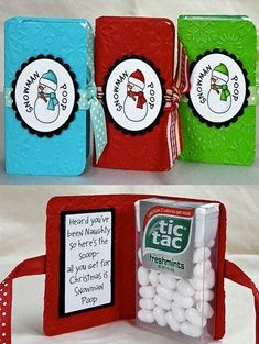 Snowman Poop Christmas Gift Idea. I would take the labels off though.