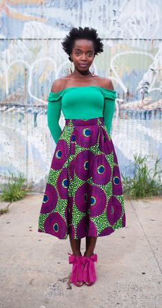 One of my new favorite actresses. :-) Love that skirt. Also the shoes...Lem Daashi (Ghana )// MaameYaa Boafo from An African City