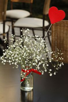 I'm not having baby's breath at my wedding. I'm not judging those who like it, but I just see it all the time and I want to be different :) Diy Wedding, Wedding Flowers, Dream Wedding, Wedding Day, Wedding Colors, Valentine Decorations, Wedding Decorations, Table Decorations, Before Wedding
