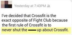 crossfit is not fight club.