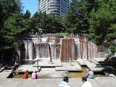 Touch the wind...: Keller Fountain Park, Portland Oregon