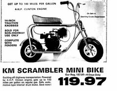 Cheap Electric Scooters, Minibike, Small Engine, Print Ads, Vespa, Atv, Trail, Nostalgia, Engineering
