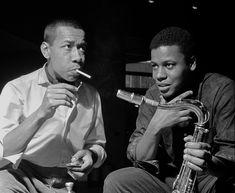 Lee Morgan and Wayne Shorter Jazz Artists, Jazz Musicians, Music Artists, Lee Morgan, Francis Wolff, Jazz Trumpet, Wayne Shorter, Hard Bop, John Garfield