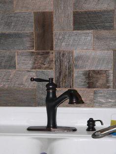 Barnwood Bricks Grey Backsplash - Barnwood Bricks ®, God's Country, Tennessee, Custom Capabilities