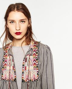 SHORT EMBROIDERED JACKET-Jackets-OUTERWEAR-WOMAN | ZARA United States