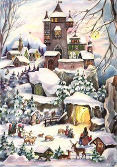 Sellmer Castle in Snow Advent Calendar Sellmer