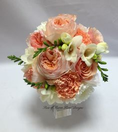 Peach bouquet.  Reminds me of my late friend P. who loved the color peach so.