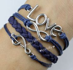 Love braceletInfinity wish braceletmusic by vividiy on Etsy, $4.59