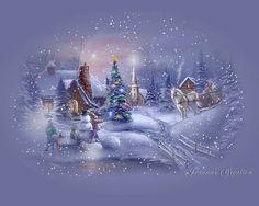 Trackerandy - My Desktop Nexus Merry Christmas Gif, Christmas Card Sayings, Christmas Graphics, Blue Christmas, Winter Christmas, Vintage Christmas, Xmas, Beautiful Christmas Scenes, Christmas Scenery