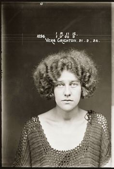 1920s Fashion Through the Lens of Police Mugshots ^ I do not want the Nurse to be a criminal by any means, but I do like the wild and voluminous hairstyle. i think it could reflect the nurse's bold personality.