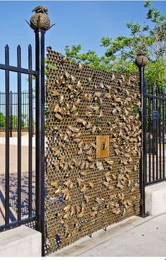 Beehive gate - Christopher Russell sculpture