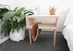 Side Table + leather sling on Behance