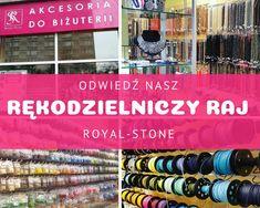Odwiedź nasz koralikowy raj w Warszawie i Poznaniu. Będziesz mogła zanurzyć się w kamieniach naturalnych, koralikach, perłach czy kryształach Swarovskiego. W naszych sklepach z koralikami znajdziesz półfabrykaty, narzędzia oraz akcesoria do tworzenia biżuterii oraz otrzymasz cenne porady od naszych pracowników. Jeśli chcesz podszkolić swój warsztat możesz wziąć udział w organizowanych przez nasz warsztatach biżuteryjnych.