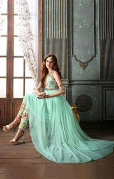 Indo western gown style anarkali dress design with latest designer patterns Visit: http://www.designersandyou.com/dresses/gown-dress #Indian Style #Gown Style  #PartyWear  #Special  #Gorgeous #IndianGown   #Best Gown  #Model  #PartyGown