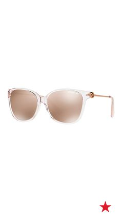 Sunglasses are a festival no brainer. Add an instant cool vibe to your look with these pink mirrored Michael Kors Marrakesh shades.