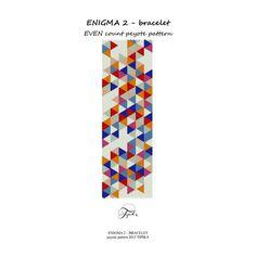 peyote pattern Enigma 2 bracelet
