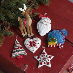 Nordic Santa Bucilla Christmas Ornament (Set of 6)