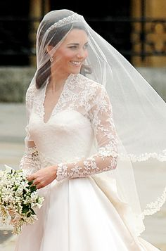 Duchess Catherine in Alexander McQueen by Sarah Burton wedding dress, April 2011