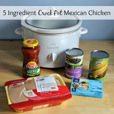 5 Ingredient Crock Pot Mexican Chicken - If you're looking for a quick, simple and delicious meal that your whole family will love, try this one. It's a favorite of ours!