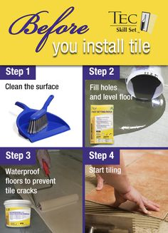 FREE resource guide: Steps to take before you install tile.