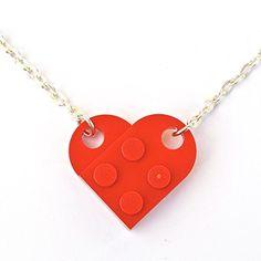 LEGO® Herz Halskette (rot) Hochzeit, Freundin, Valentinstag - http://schmuckhaus.online/sjp-cufflinks/lego-herz-halskette-rot-hochzeit-freundin
